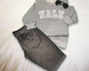 Kale Shirt Kale Sweatshirt Vegan Gift Pullover Kale Sweater Unisex Slouchy Sweatshirt Kale Jumper
