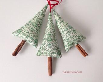 Christmas Tree Decoration, Cinnamon Tree, Fabric Tree Decoration, Tree Ornament
