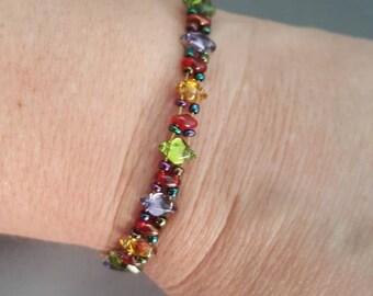 Holiday Lights Beaded Bracelet