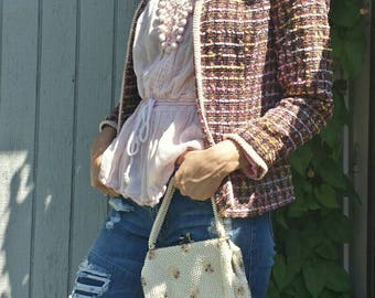 Women's Blazer/Jacket From The 80's/Fundamental Things/vintage blazer/80s blazer/fundamental blazer/womens 80s blazer