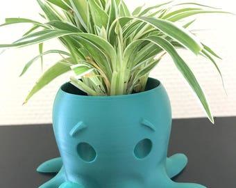 Mint green color Octopus flower pot