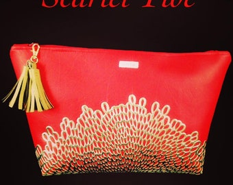 Scarlet Tide Oversized Clutch