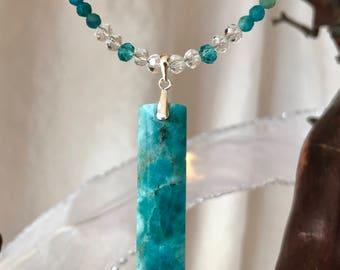 Apatite Pendant Necklace