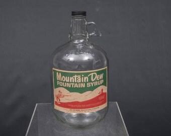 Mountain Dew Gallon Syrup Bottle