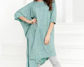 Asymmetric dress green Jersey maxi dress women Warm gown short sleeve blue Casual womens dress floorJersey dress gray