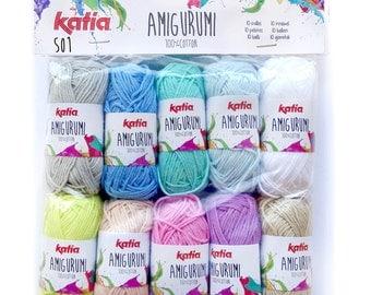 Amigurumi,  Cotton Yarn, Amigurumi Set, Katia Yarn, Yarn Crafts, Crochet Cotton Yarn, Crochet Yarn, Amigurumi Kit,Cotton Yarn,Crochet Cotton