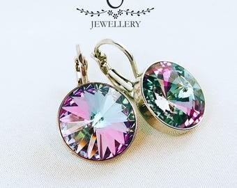 Swarovski Elements Sparkling Earrings