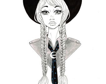 Scout witch -inktober 2017-