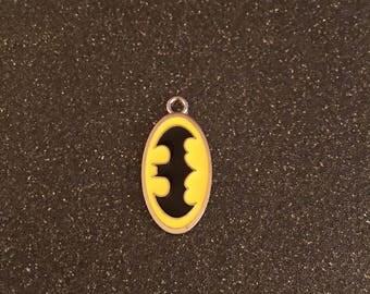 Batman logo charm