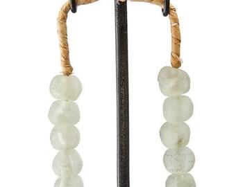 Recycled Glass Beads,Pearl White Beads,Ornamental Jewellery,African Jewellery,Artisanal Jewellery,Handmade jewellery,Fair Trade