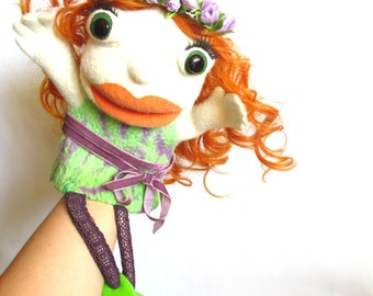 Muppet puppet Puppetry Red hair Show Marionette Ventriloquist Movie Professional Theatre Moving mouth Custom Collectible doll