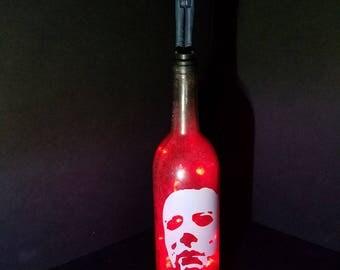 michael myers lighted bottle halloween horror movie slasher michael myers gift halloween - Michael Myers Halloween Decorations
