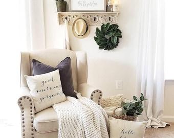 "Miniature 14"" Magnolia Wreath - Custom Wreaths - Handmade  -Summer - Wedding Shower - House Warming Gift - Easter Decor - Spring"