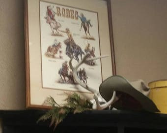 Vintage Rodeo Poster/Picture