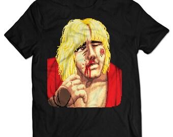 Street Fighter II Ken Defeated T-shirt