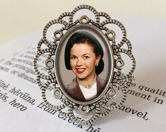 Shirley Temple Brooch - Shirley Temple Gift, Shirley Temple Black Pin, Heidi Gift, Curly Top Pin, Bright Eyes Gift, Vintage Hollywood Brooch