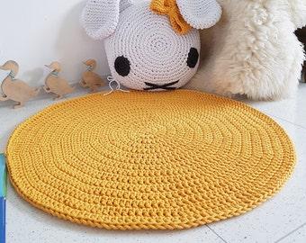 modern yellow doily rug round area rug nursery rugs teppich rund alfombra trapillo modern