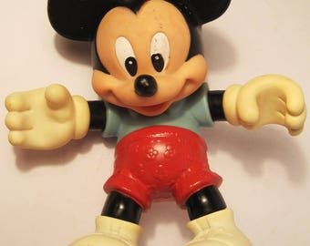 "Vintage Mickey Mouse Toy 8"" Vinyl Figure Disney Collectible"