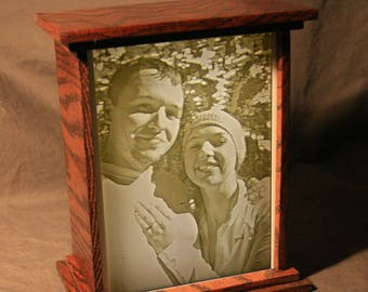 Personalized Lithopane Lightbox - Custom Engraved To Bring Your Photos To Life