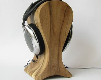 The best headphones friendly Wooden stand of walnut