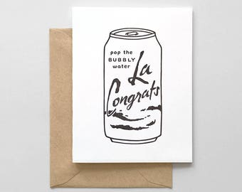 La Congrats Letterpress Greeting Card