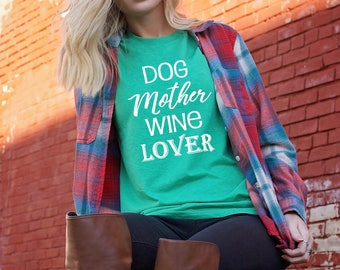 Unisex Tri-Blend T-Shirt Dog Mother Wine Lover - Fur Mama Cursive - Dog Mom Shirt- Fur Mom Shirt - Wine Shirt