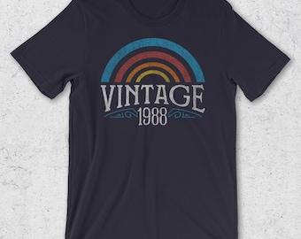 30th Birthday Gifts for Her & Him -  Vintage 1988 T-Shirt- Retro Men Women - 30th Birthday Gift Ideas  30th Birthday Shirt- 1988 Shirts