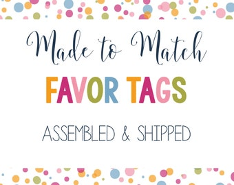 Made to Match- Favor Tags, Thank You Tags (Set of 12)