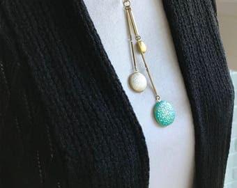 Multi Photo Locket, Grandma Locket, Mom Locket, Family Tree, Hand Painted Locket, Triple Locket Necklace, Turquoise Locket, Patina