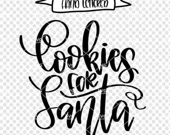 Cookies for Santa SVG, Christmas SVG, Digital cut file, winter svg, Santa svg, Elf svg, santa claus svg, cookie plate svg, commercial use OK