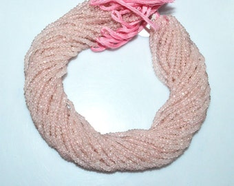 "1 Strand Good Quality Rose Quartz Rondelle Beads , Rose Quartz Faceted Rondelle Beads , Sold By Strand , 3.50 mm , 13"" - MC1246"