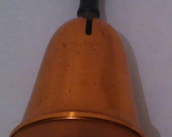 Vintage Copper School Teacher Bell, Coin Bank, Insert Coins to Make Noise, Fun, Shelf Display, 1970s, Coppercraft, Home Decor, Bell