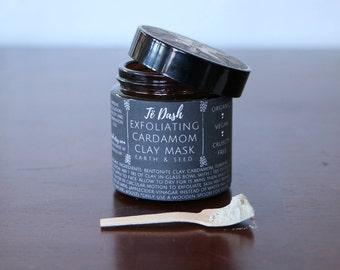 Exfoliating Cardamom Face Mask : Bentonite Clay, Cardamom, Turmeric 4 oz