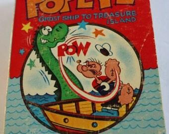 POPEYE Ghost Ship To Treasure Island Whitman Big Little Book #5775 Softcover 1967