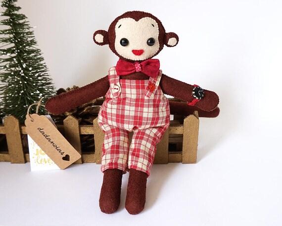 Monkey Toy   Jungle Animals   Monkey Kawaii   Toy For Kids   Soft Toy   Plush Toy   Handmade Monkey Toy   Gift   Handmade Animal   Monkey
