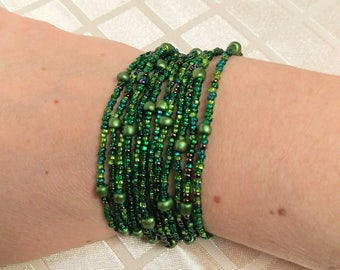 multistrand beaded bracelet
