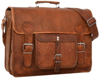 Gusti leather ' leon ' Leather messenger bag