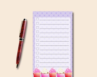 Grocery List Notepad - Instant Download