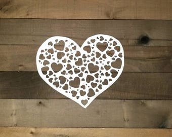 Metal Heart Decor Heart Pattern Wall Art Love Decor Valentine's Decor Love Sign Kids Room Decor Heart Sign Wedding Decor Heart Art