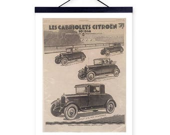 Vintage Original Advert Cabriolets CITROEN