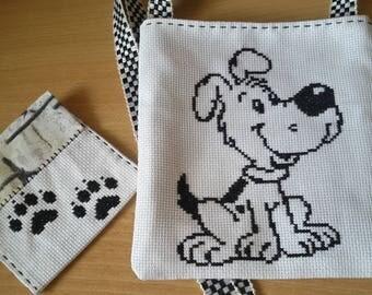 Little girl's cross stitched shoulder bag
