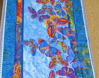 Marblehead Butterfiles Are Free Cotton Fabric Panel from Paintbrush Studios