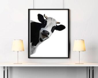 Nursery Farm Animal Wall Art, Cow printable, Cow Print, Cow wall decor, Funny cow poster, Cow wall decor, Farmhouse Decor, Cow lovers gift