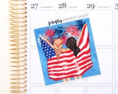 4th of July Double Box (for Erin Condren Life Planner - Vertical)