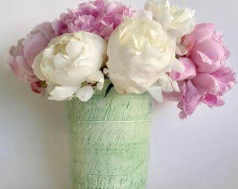 Handmade Ceramic Green Pottery Vase