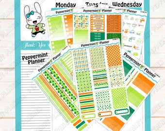 St Patrick Day Weekly Planner Kit --- Planner Stickers --- Will fit in your Classic HP --- CHP10