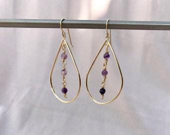 Gold-filled teardrop earrings