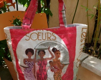 Wax and recycled rice sack Tote