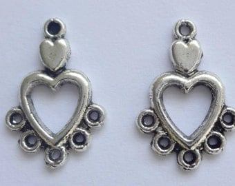 20 Tibetan Silver 18mm Chandelier Earring Connectors Earring Findings
