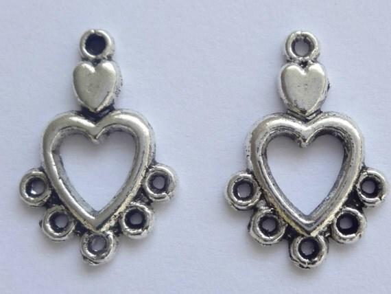 20 Tibetan Silver 18mm Chandelier Earring Connectors Earring ...